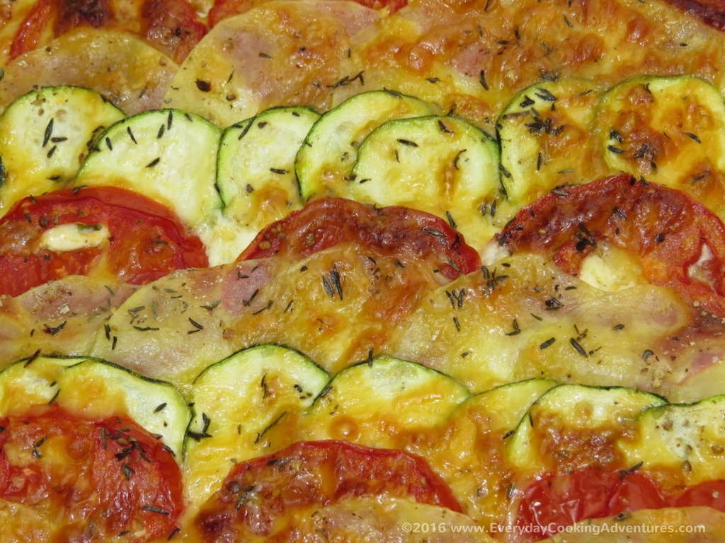 Martha Stewart's Potato, Tomato, Zucchini Gratin ©EverydayCookingAdventures2016