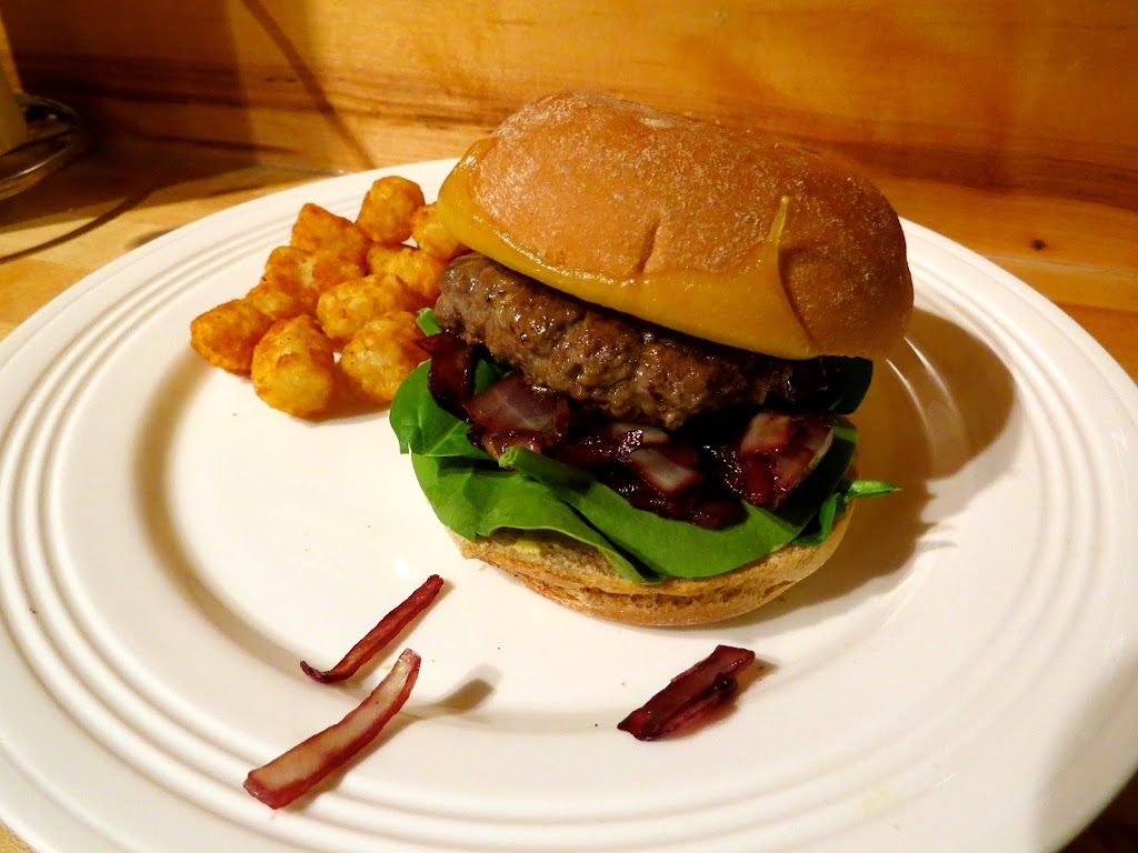 Bon Appetit's Bison Burgers with Cabernet Onions and Wisconsin Cheddar ...