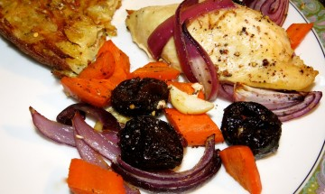 Martha Stewart's Chicken with Prunes, Carrots and Onion