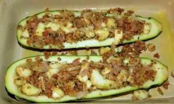 Sausage Stuffed Zucchini ©EverydayCookingAdventures