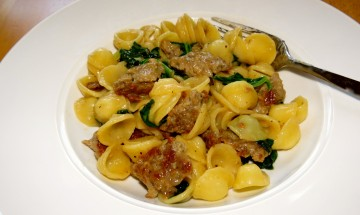 Sausage and Spinach Orrechiette ©EverydayCookingAdventures 2014
