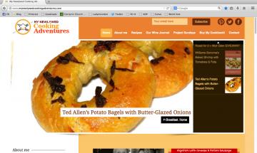 Screen Shot of the New Blog Look ©EverydayCookingAdventures 2014