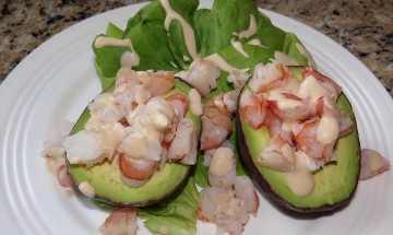 Shrimp Stuffed Avocado Salads ©EverydayCookingAdventures2016