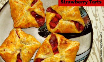 Puff Pastry Strawberry Tarts ©EverydayCookingAdventures