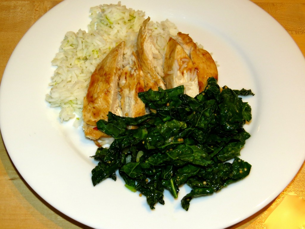 Spicy & Sweet Sauteed Kale www.everydaycookingadventures.com