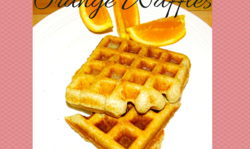 Orange Waffles ©www.everydaycookingadventures.com