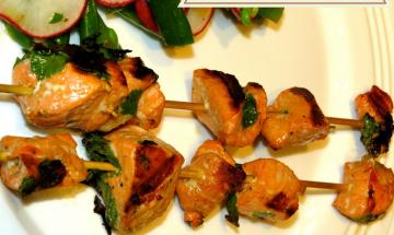 Salmon Cilantro Kebab ©EverydayCookingAdventures
