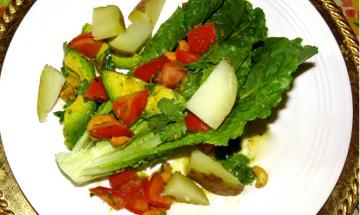 Romaine Potato Salad with Parsley Dressing ©EverydayCookingAdventures 2014
