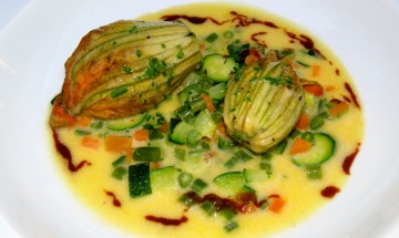 Stuffed Courgettes or Squash Blossoms Provence, France ©EverydayCookingAdventures 2014