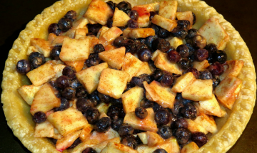 Apple Blueberry Pie ©MyNewlywedCookingAdventrues 2014