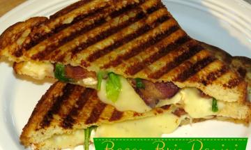 Bacon Arugula Brie Panini ©EverydayCookingAdventures 2014