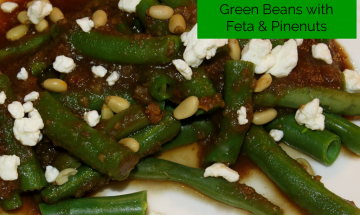 Balsamic Reduction Green Beans with Feta and Pinenuts ©EverydayCookingAdventures