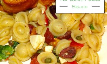 No-Cook Pasta Sauce ©EverydayCookingAdventures 2014