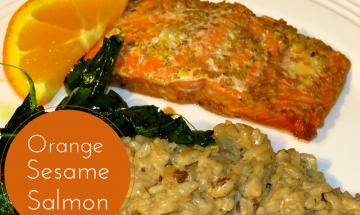 Teriyaki Orange Sesame Salmon ©EverydayCookingAdventures 2014