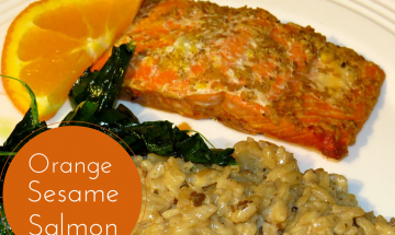 Teriyaki Orange Sesame Salmon ©EverydayCookingAdventures 2014