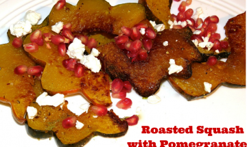 Roasted Squash with Pomegranate Seeds & Feta ©EverydayCookingAdventures 2014