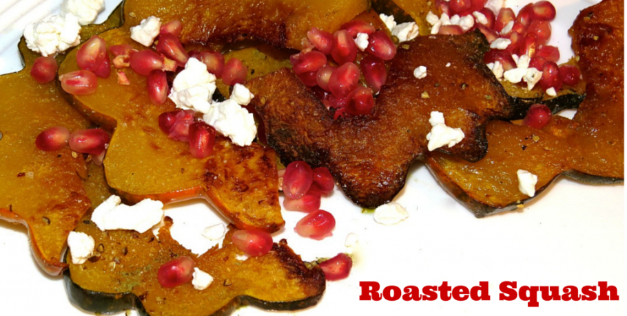 Roasted Squash with Ricotta Salata & Pomegranate Seeds