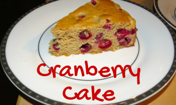 Cranberry Cake with Butter-Cream Sauce ©EverydayCookingAdventures2014