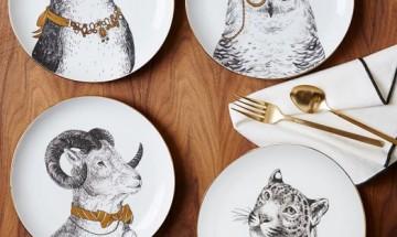 Gilded Dapper Animal Plates