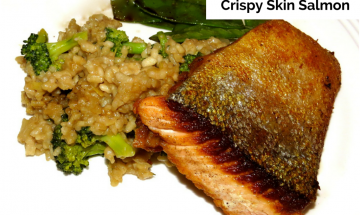 Crispy Salt and Pepper Skin Salmon ©EverydayCookingAdventures2015