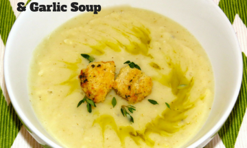 Jerusalem Artichokes/Sunchokes, Potato and Garlic Soup ©EverydayCookingAdventures2015