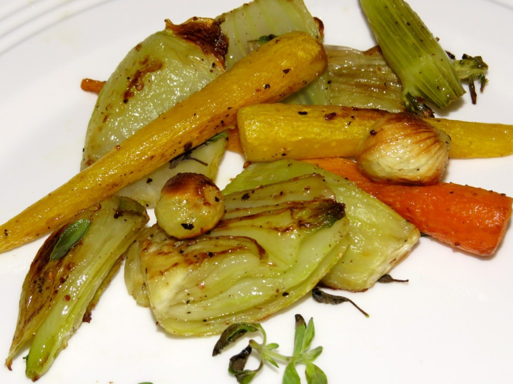 Caramelized Fennel, Baby Turnips, and Carrots ©EverydayCookingAdventures2014