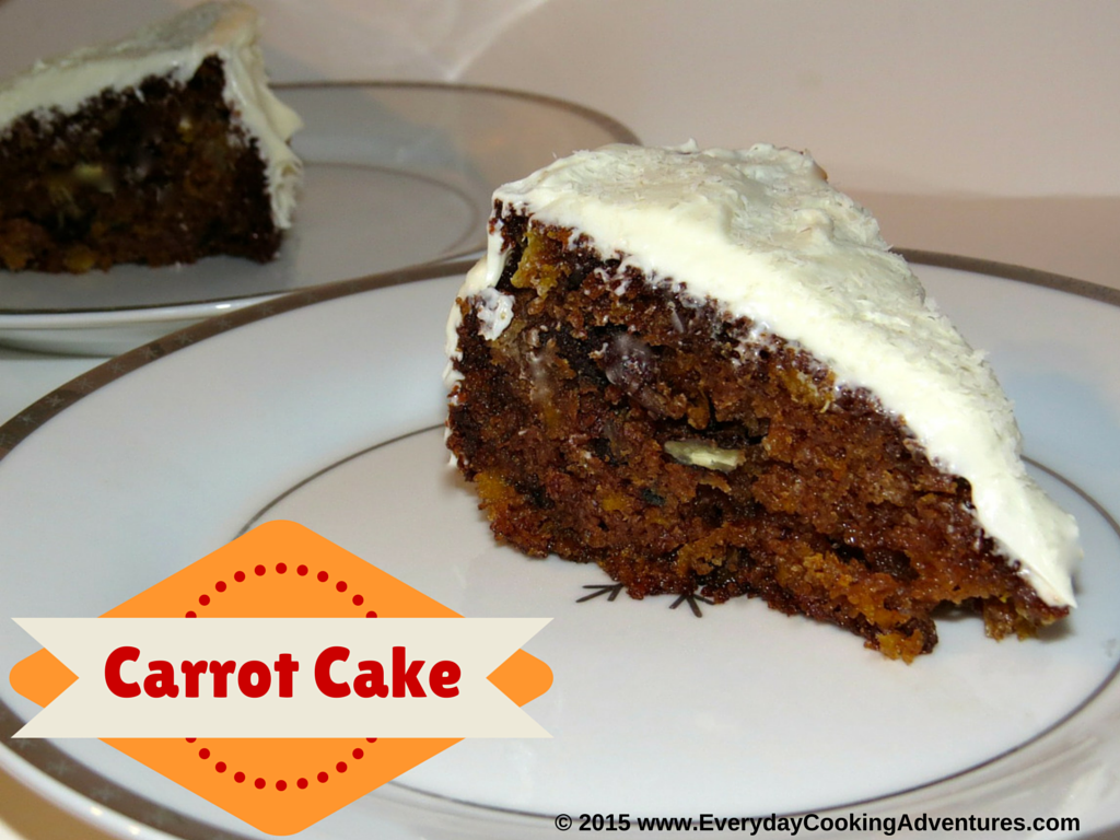 Carrot Cake with Vanilla Cream Cheese Frosting ©EverydayCookingAdventures2015