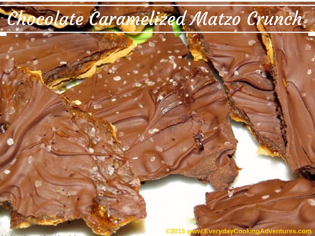 Chocolate Caramelized Matzo