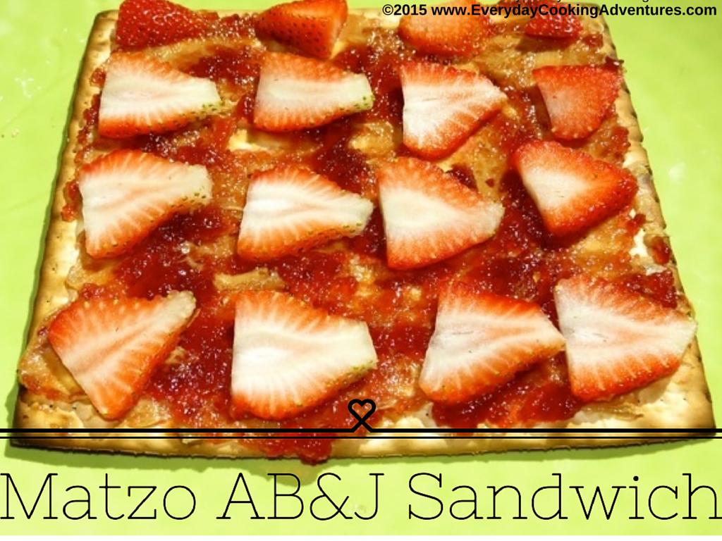 Matzo Almond Butter and Jam Sandwich ©EverydayCookingAdventures2015