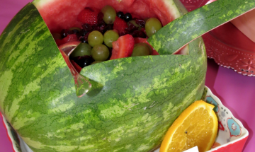 Watermelon Fruit Salad Baby Carriage ©EverydayCookingAdventures2015
