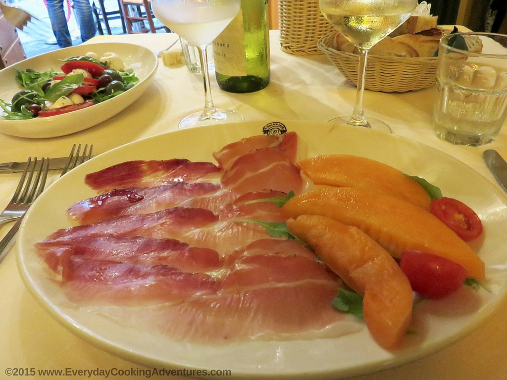 Prosciutto and Melon in Rome, Italy ©EverydayCookingAdventures2015