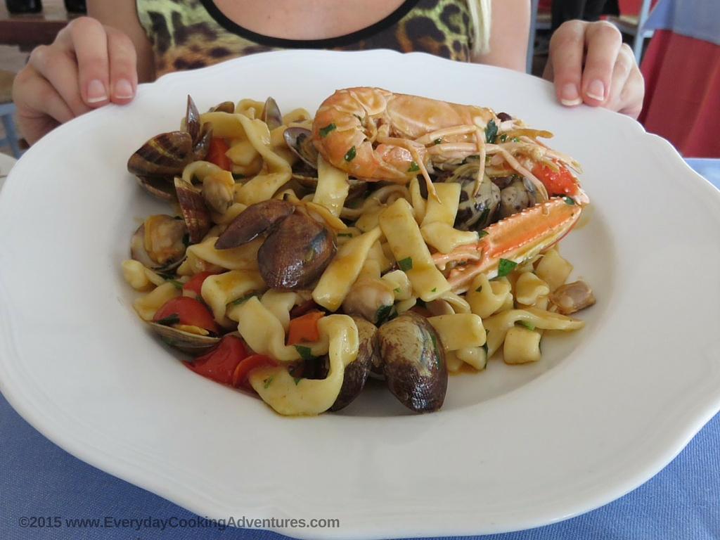 Seafood Pasta in Rome, Italy ©EverydayCookingAdventures2015