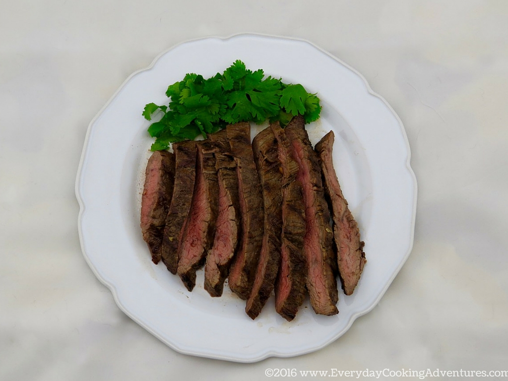Asian-Flavored Skirt Steak Martha Stewart Recipe ©EverydayCookingAdventures2016