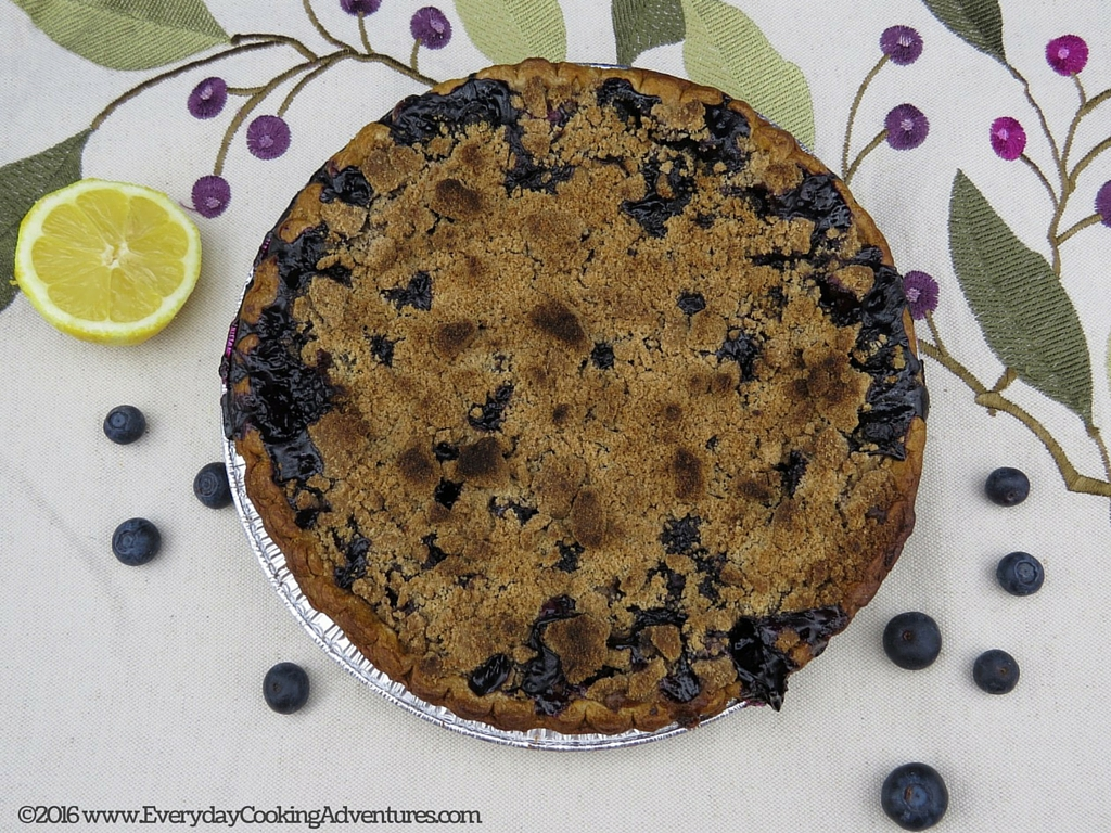 Bon Appetit Blueberry Crumble Pie ©EverydayCookingAdventures2016-2
