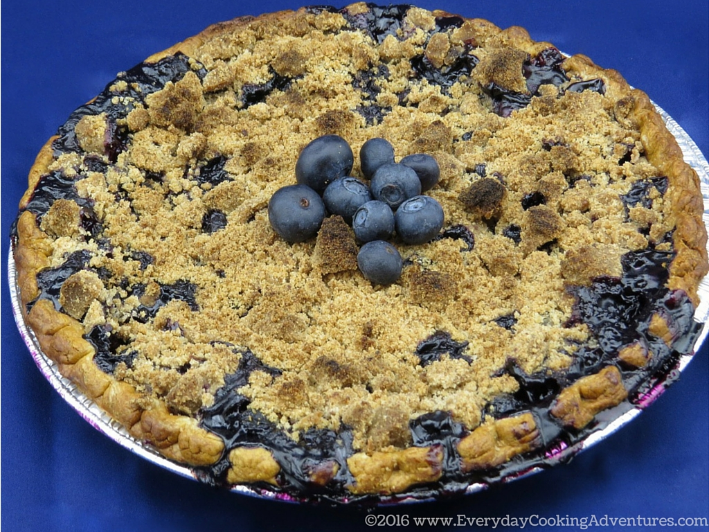 Bon Appetit Blueberry Crumble Pie Recipe ©EverydayCookingAdventures2016