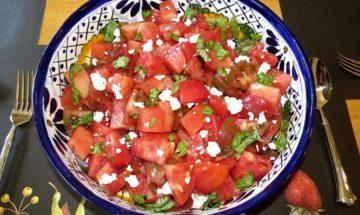 New York Times' Tomato and Watermelon Salad ©EverydayCookingAdventures2016