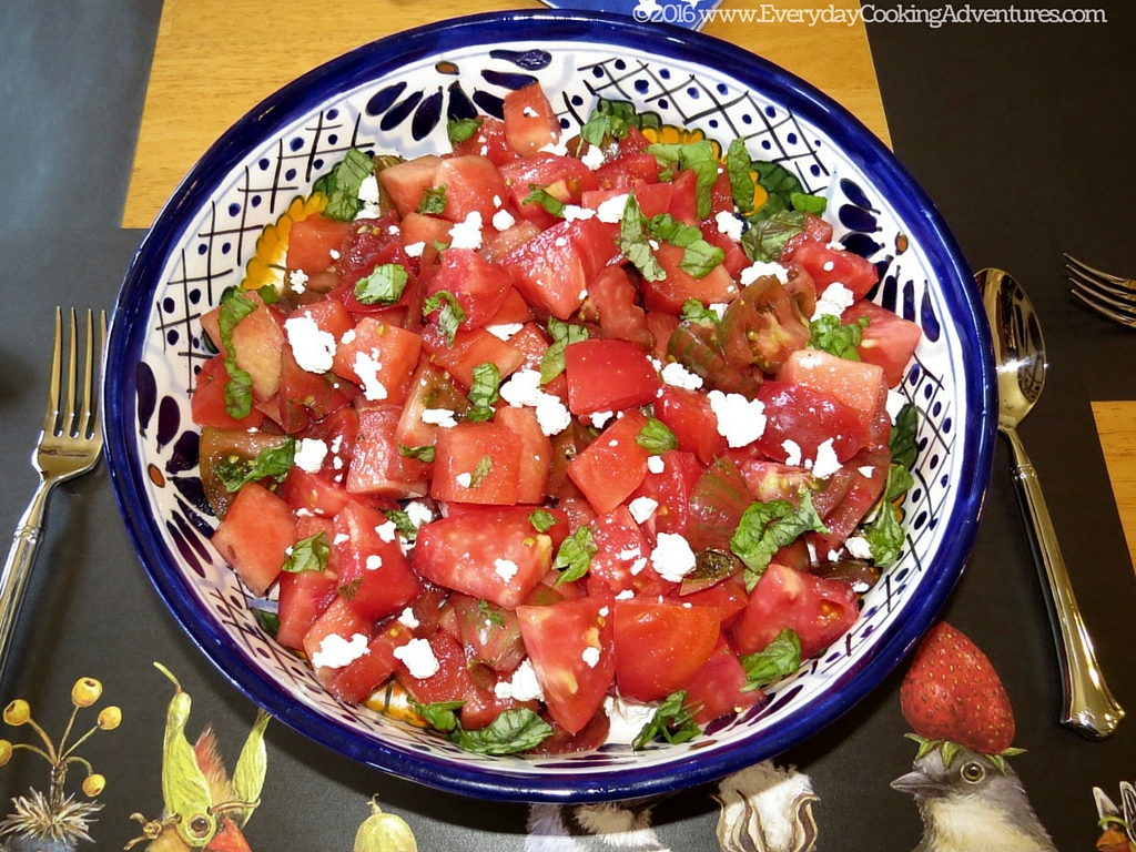 New York Times' Tomato and Watermelon Salad ©EverydayCookingAdventures2016